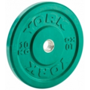 York Olympic Colour Rubber Bumper Plates 10kg Green