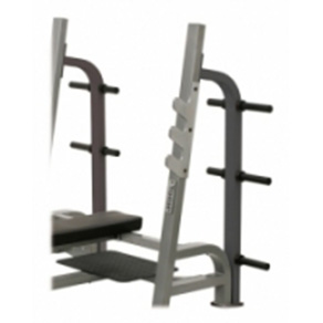 York STS Weight Storage for Olympic Flat Bench Press with Gun Racks