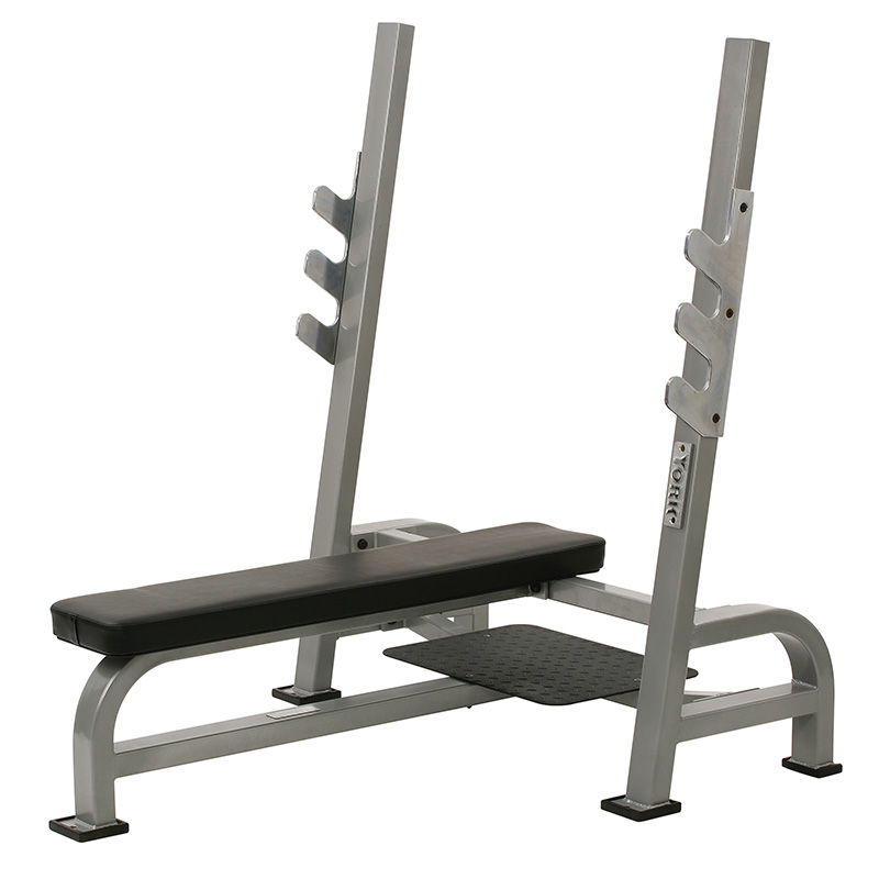 York STS Olympic Flat Bench Press with Gun Racks (Weight Storage not included)