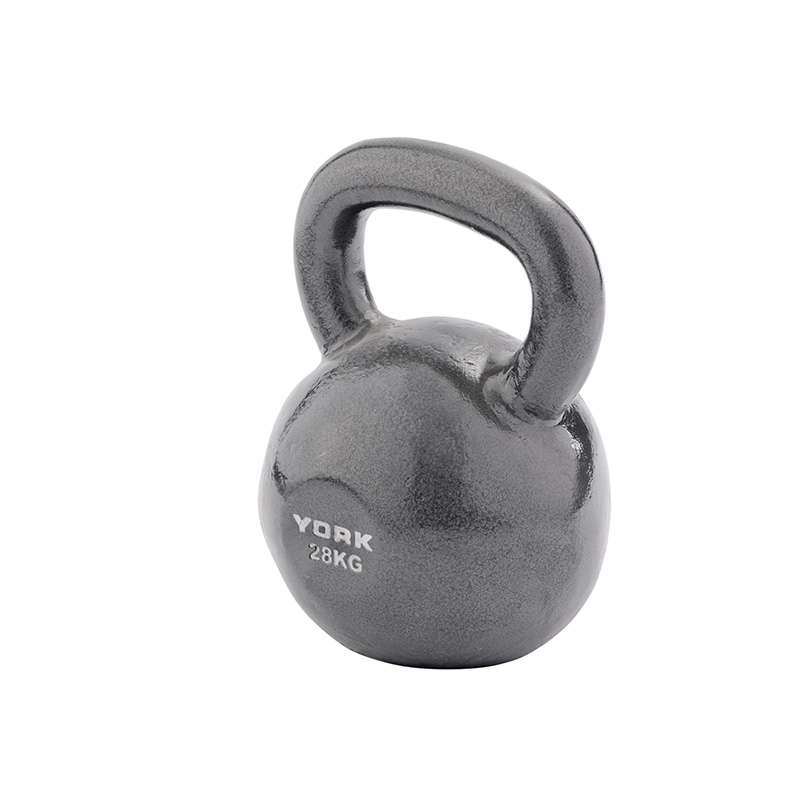 York 28kg Cast Kettlebell (Steel Handle)