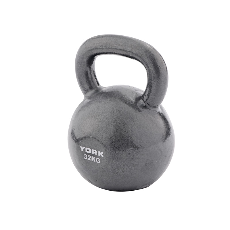 York 32kg Cast Kettlebell (Steel Handle)