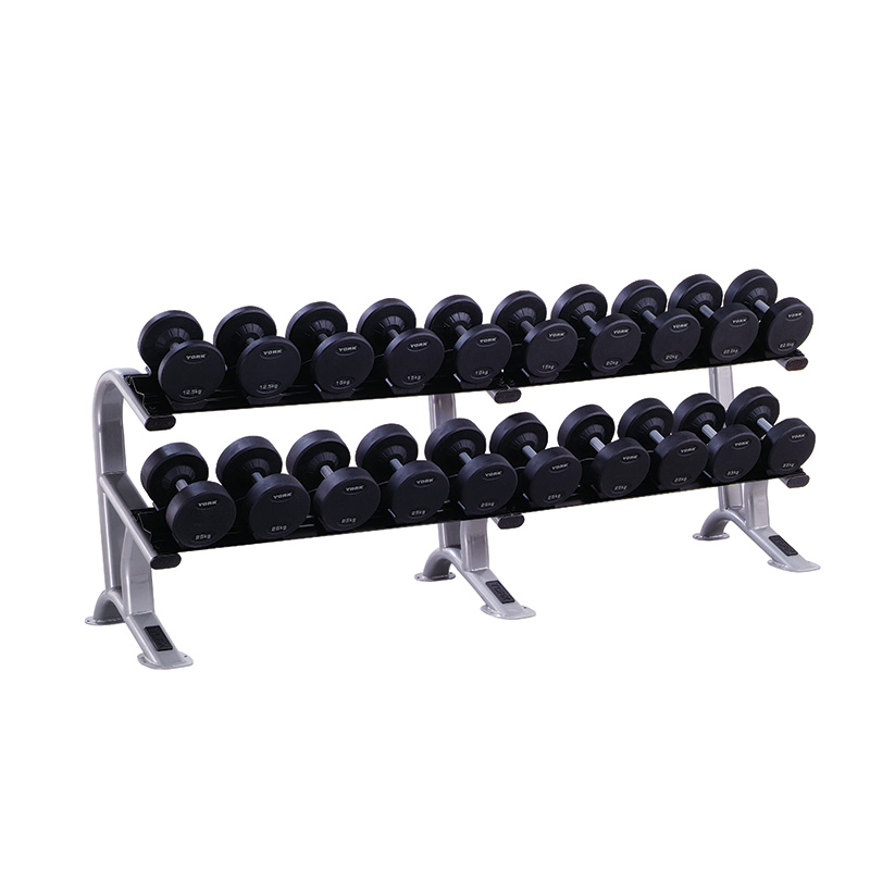 York 2-Tier Dumbbell Saddle Rack (Holds 10 Pairs of York Pro-Style Dumbbells)