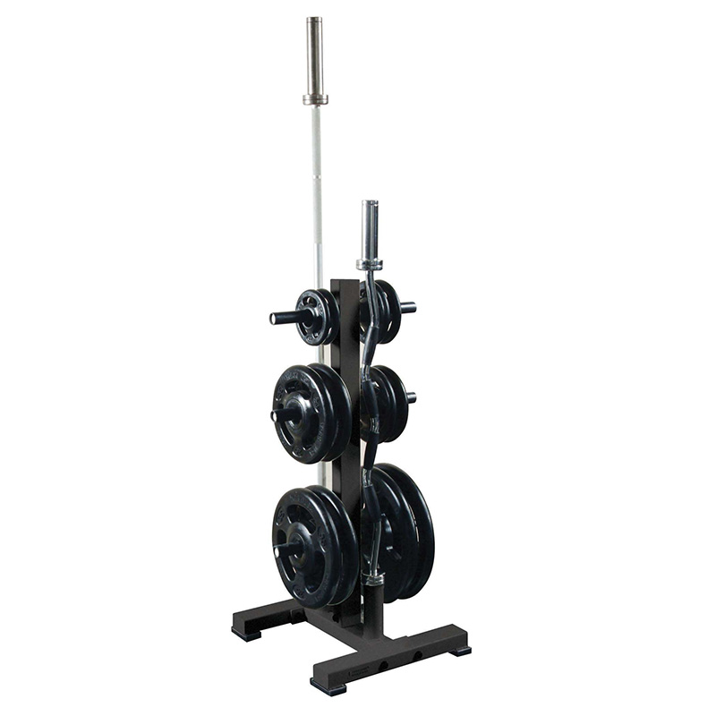 York Olympic Plate Tree Rack with 2 Olympic Bar Holders