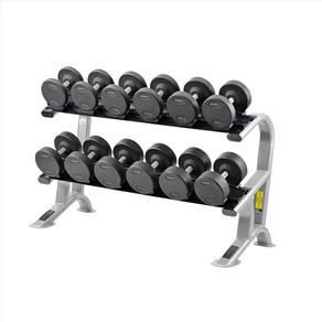 York 3 Tier Dumbbell Tray Rack (Holds Rubber Hex Dumbbells)