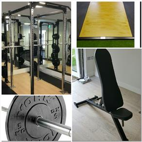A-UNIT WEIGHT LIFTING SUITE WITH CAGE 15% OFF FREE DELIVERY & INSTALLATION 3115.76 GBP