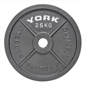 York Barbell Olympic Cast Iron Weight Plate 1 x 15KG
