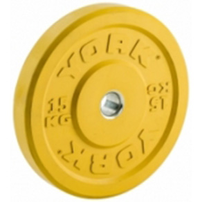York Olympic Colour Rubber Bumper Plates 15kg Yellow *CLICK HERE*