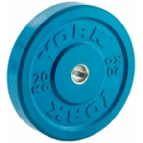 York Olympic Colour Rubber Bumper Plates 20kg Blue *CLICK HERE*