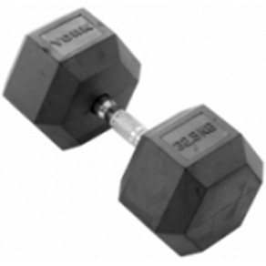 York 1 x 32.5kg Rubber Hex Dumbbell *CLICK HERE*