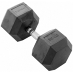 York 1 x 35kg Rubber Hex Dumbbell *CLICK HERE*