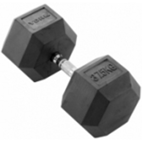 York 1 x 37.5kg Rubber Hex Dumbbell *CLICK HERE*