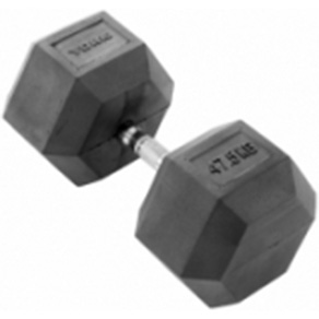 York 1 x 47.5kg Rubber Hex Dumbbell *CLICK HERE*