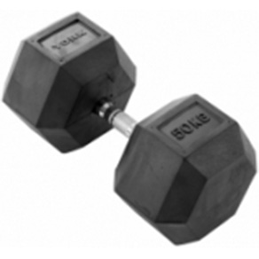York 1 x 50kg Rubber Hex Dumbbell *CLICK HERE*