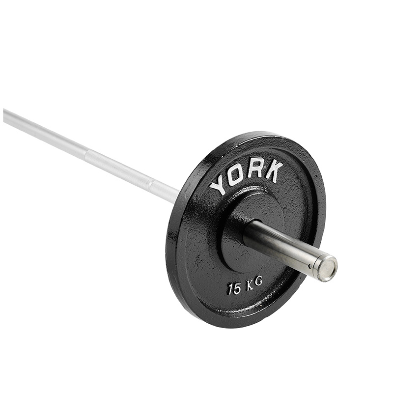 York 1 x 15kg Cast Iron Olympic Plates
