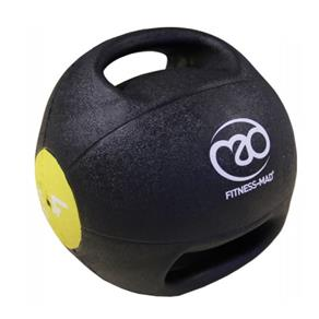 4Kg Double Grip Medicine Ball - Yellow *Click here*