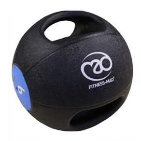 6Kg Double Grip Medicine Ball - Blue *Click here*