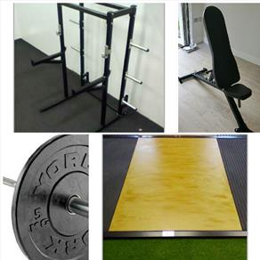 A-Unit Weight Lifting Suite with Half Rack *CLICK HERE*